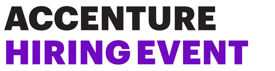 ACCENTURE HIRING EVENTS